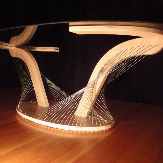 Oval Coffee Table by Robby Cuthbert