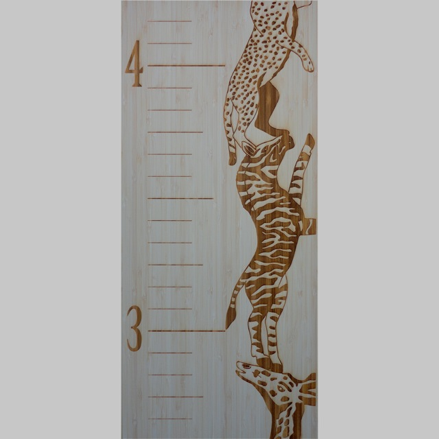 Children's Bamboo Growth Chart by Robby Cuthbert