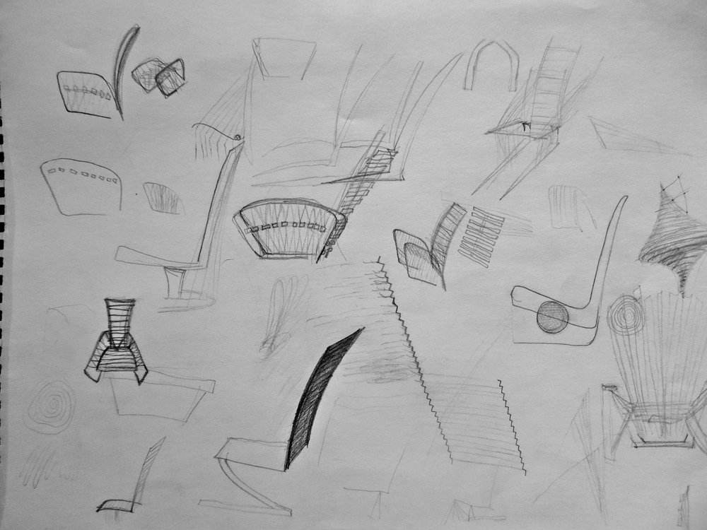 Initial Adirondack Chair Sketches