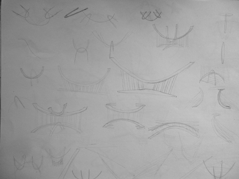 Sketches for Suspended Coffee Table