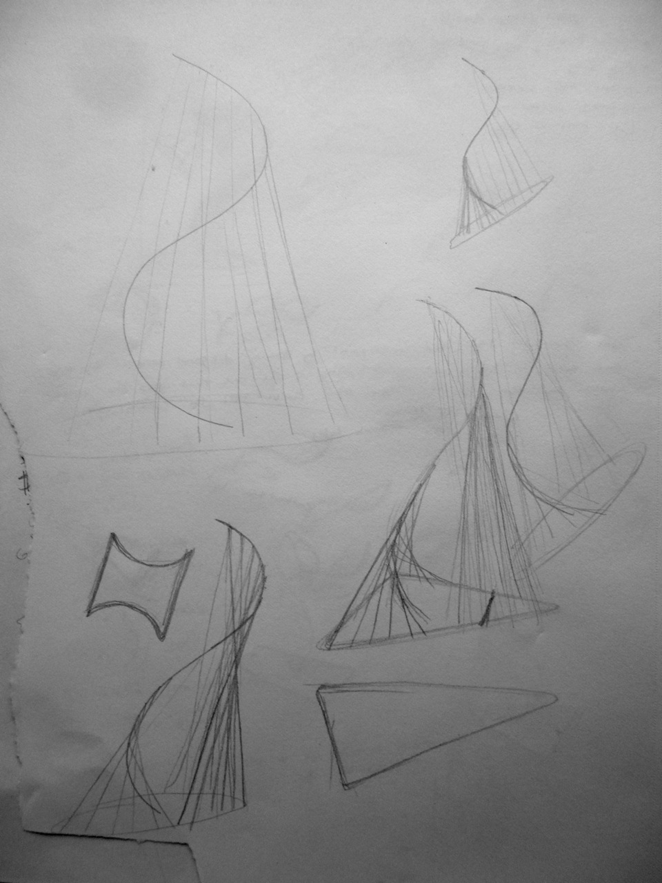 S-Curve Lamp Sketches