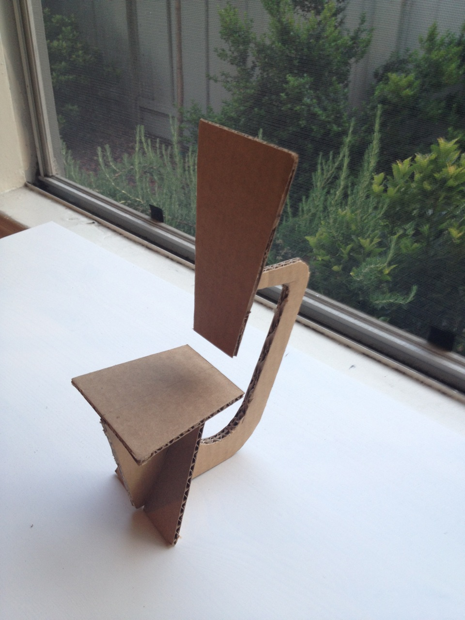 Cardboard model made to figure out best dimensions