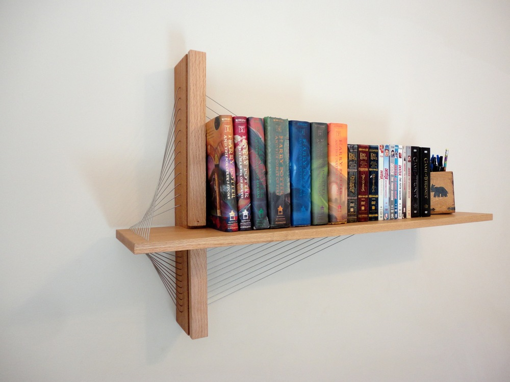 shelf by robby cuthbert. A modern floating shelf made of wood ...