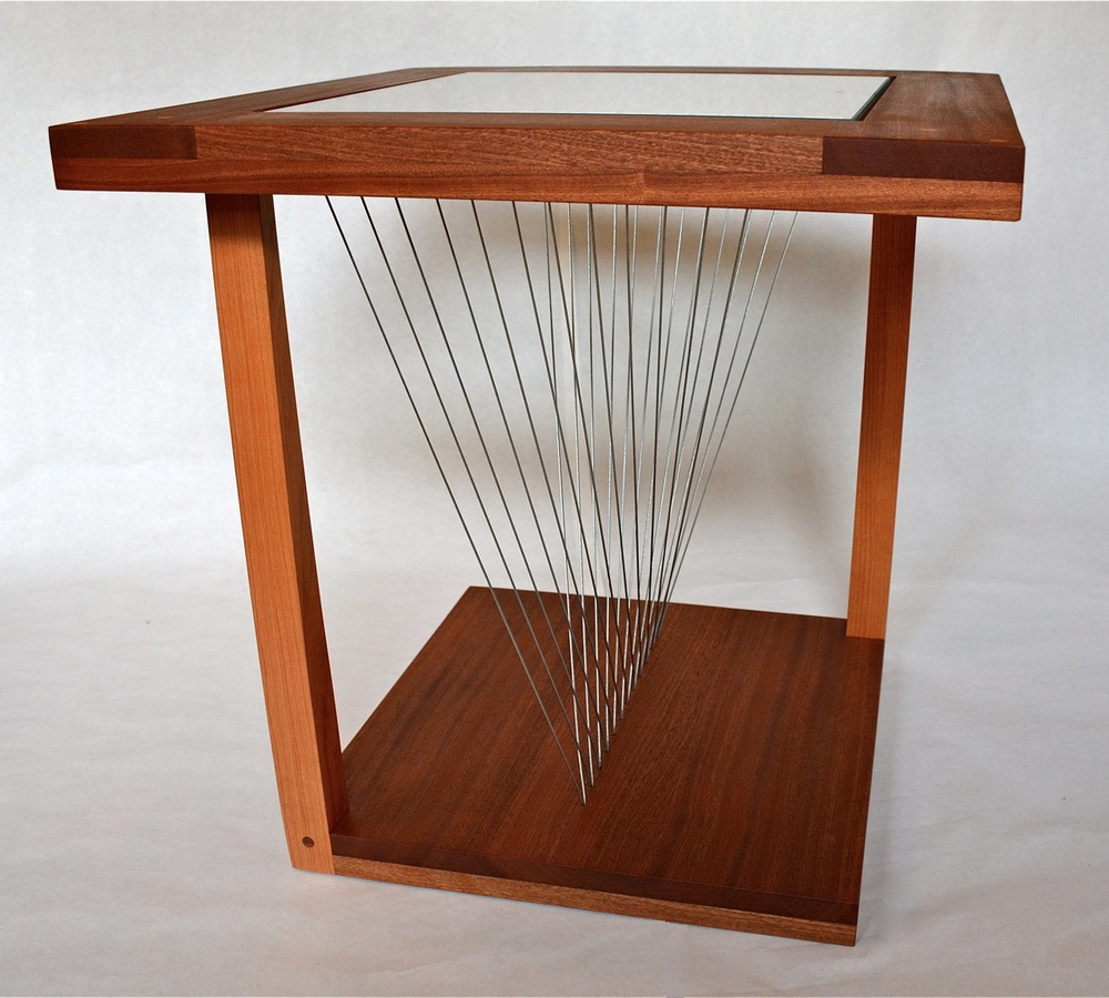 Engineering end table Robby Cuthbert