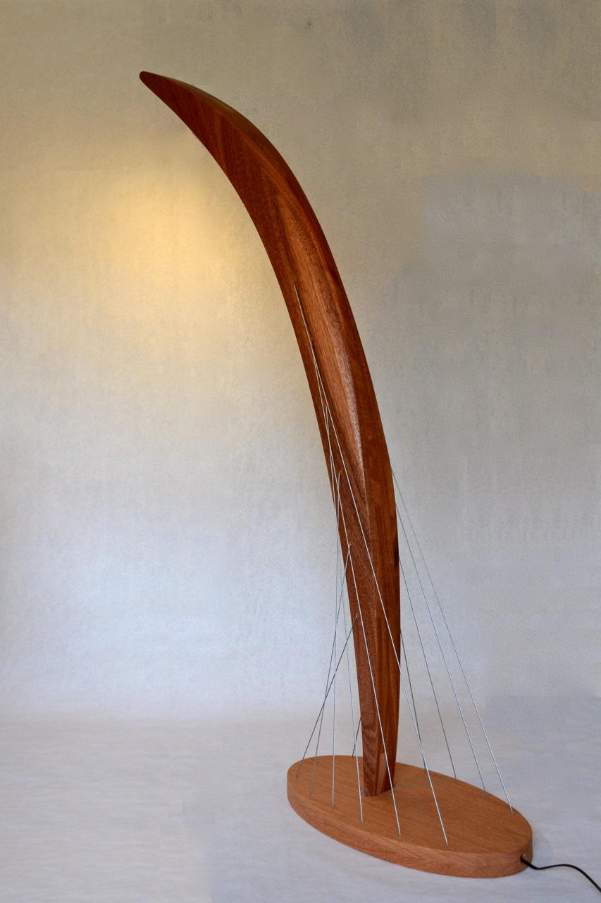 Arc Floor Lamp back view by Robby Cuthbert