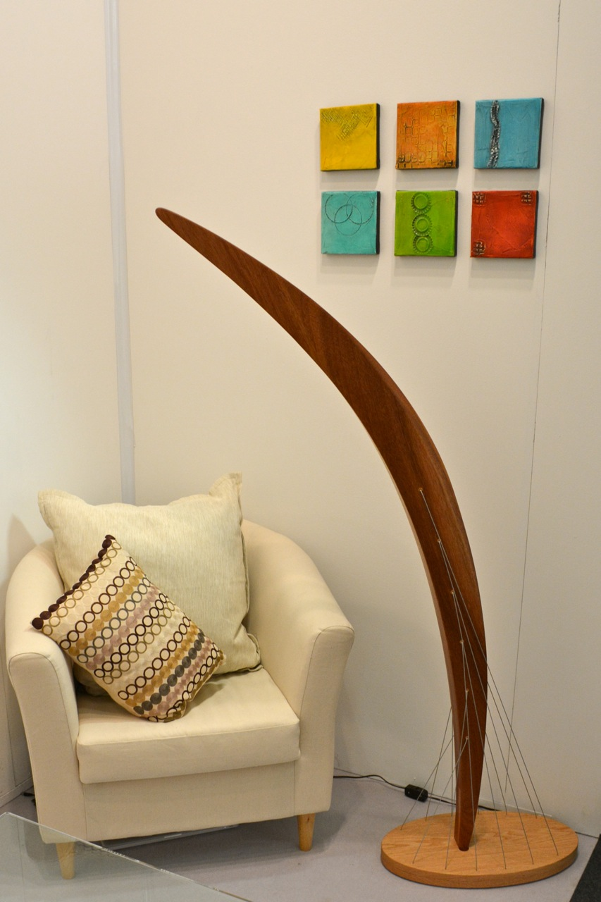 The lamp in my booth at the Architectural Digest Home Design Show. - Arc Floor Lamp — Robby Cuthbert Design