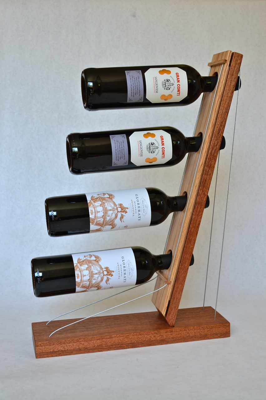 The mahogany and oak version of the rack.
