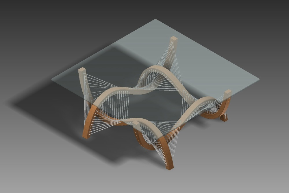 CAD Drawing for Contour Coffee Table