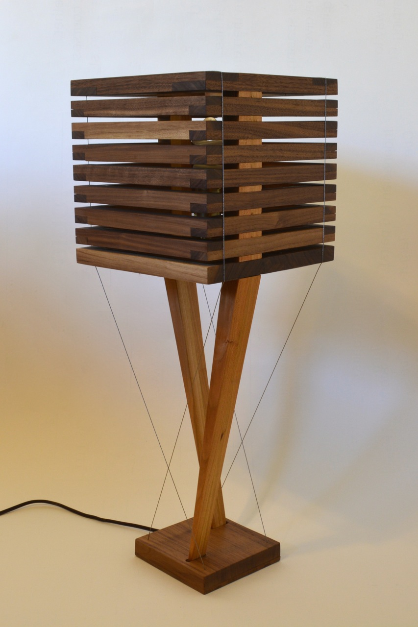 Walnut lamp by Robby Cuthbert
