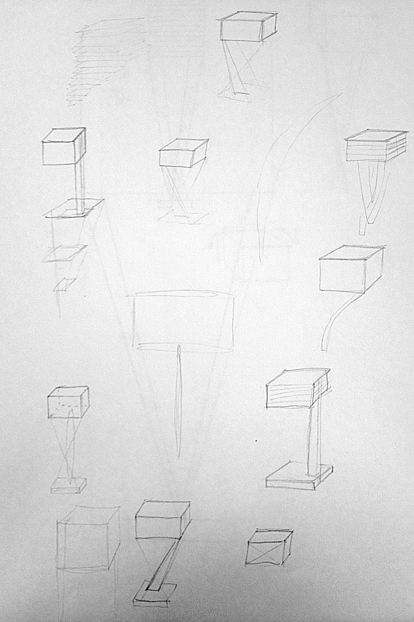 As always, the design process for the lamp began with some brainstorm sketches.