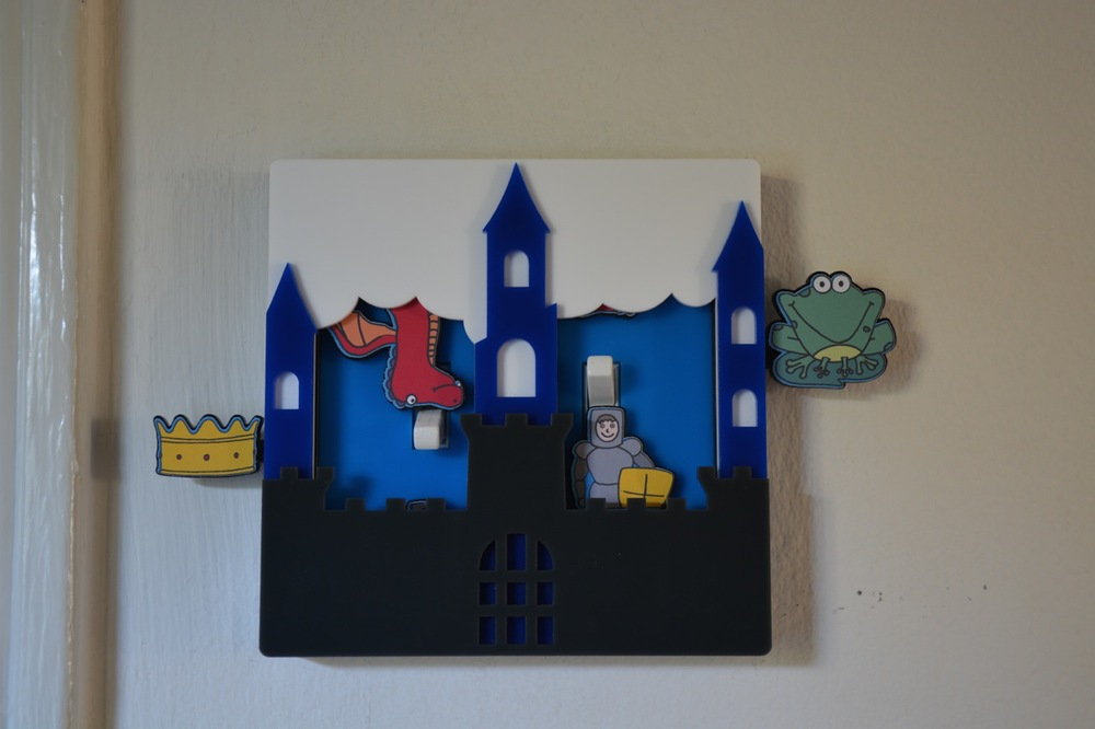 Castle light switch cover by Robby Cuthbert double switch