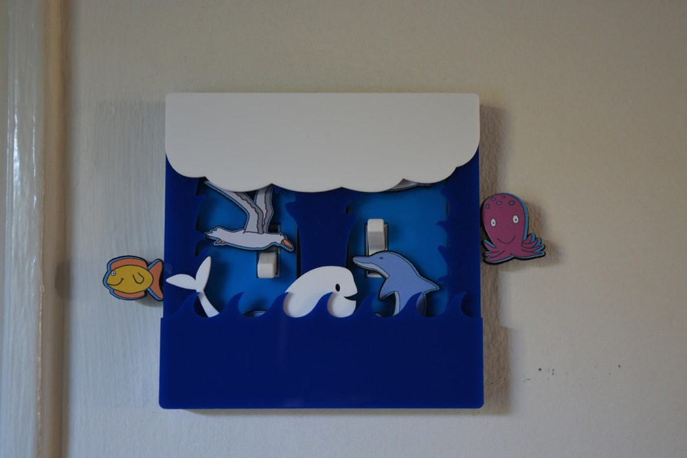 Ocean themed light switch cover by Robby Cuthbert
