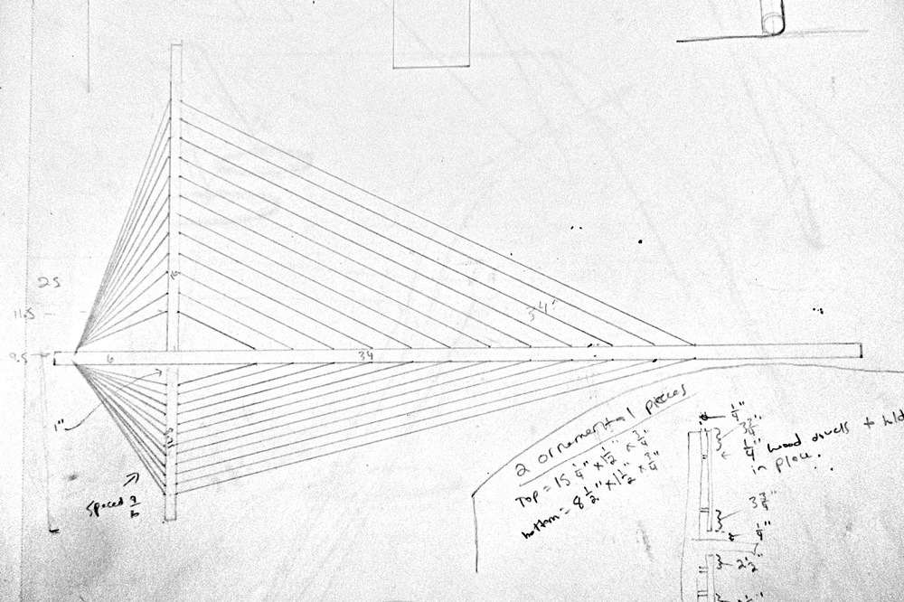 Drawing for Suspension Shelf