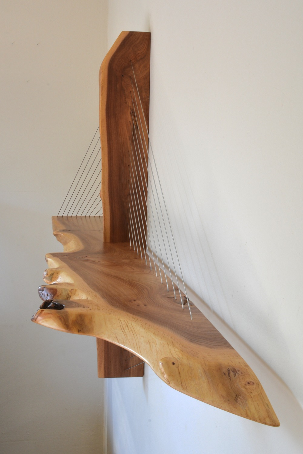 Live Edge Suspension Shelf
