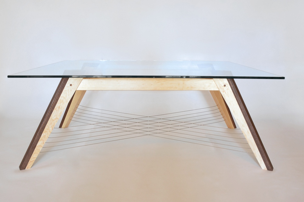 No-shelf version of the X-Weave Coffee Table