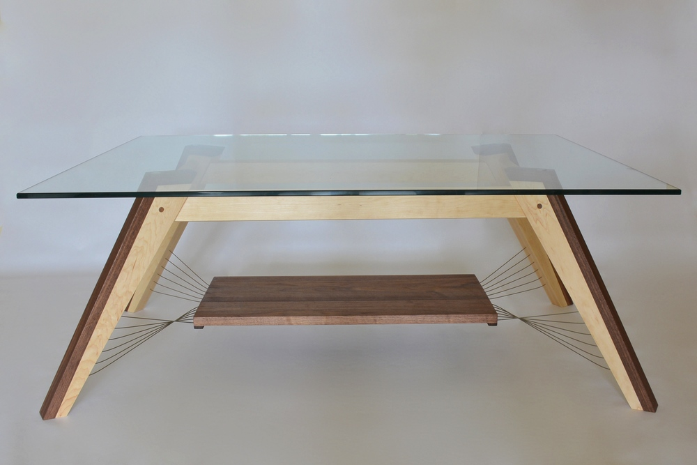 X-Weave Coffee Table with Shelf.