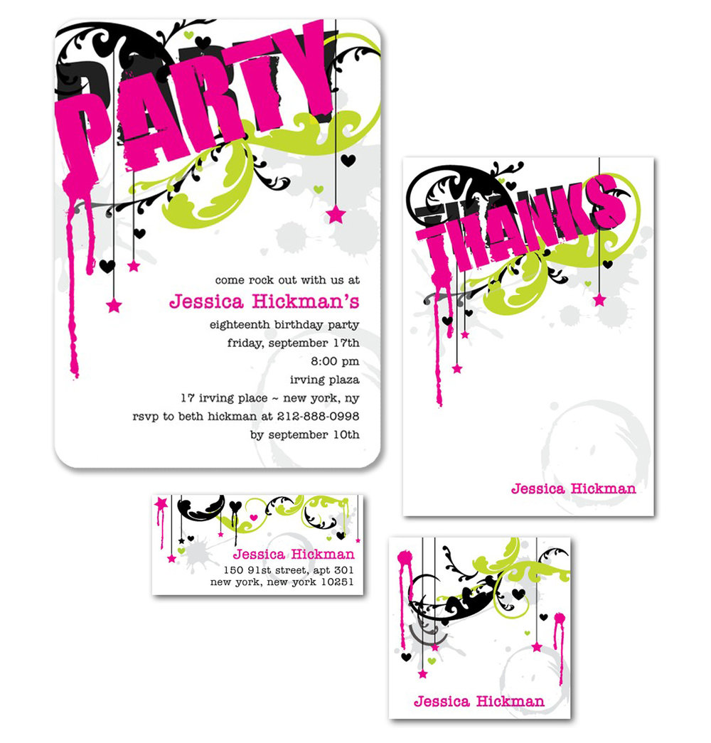 Teen Birthday Party Invite for Tinyprints