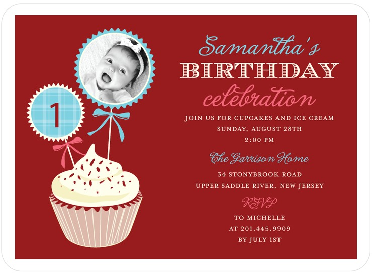 Red Velvet Birthday Invite for Tinyprints