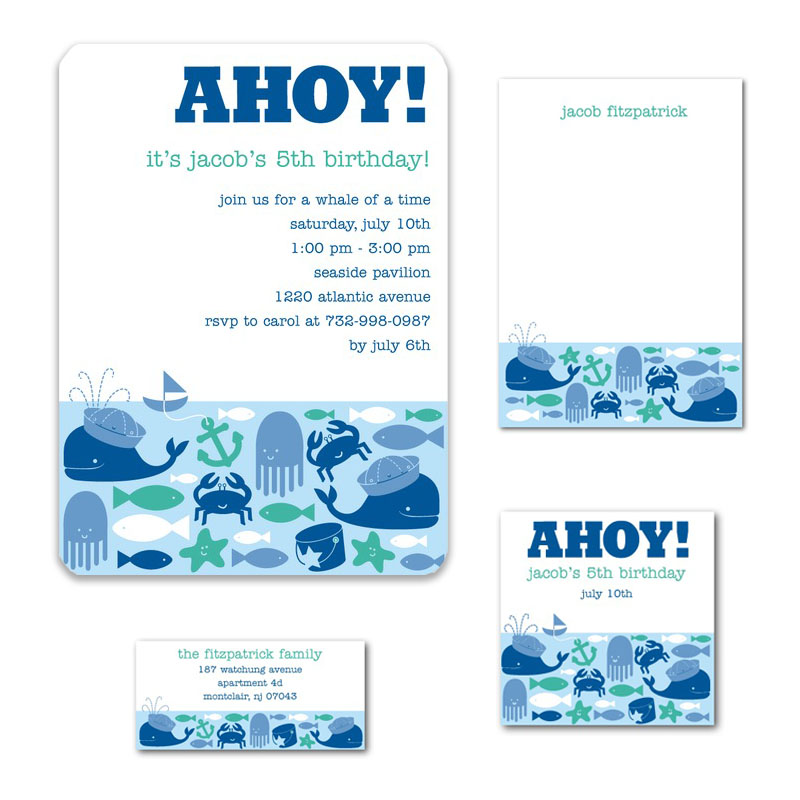 Ahoy! Boys Birthday Invite for Tinyprints