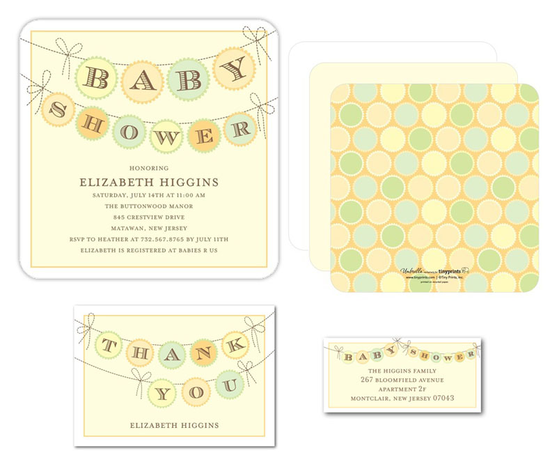 Baby Shower Banner Invite for Tinyprints