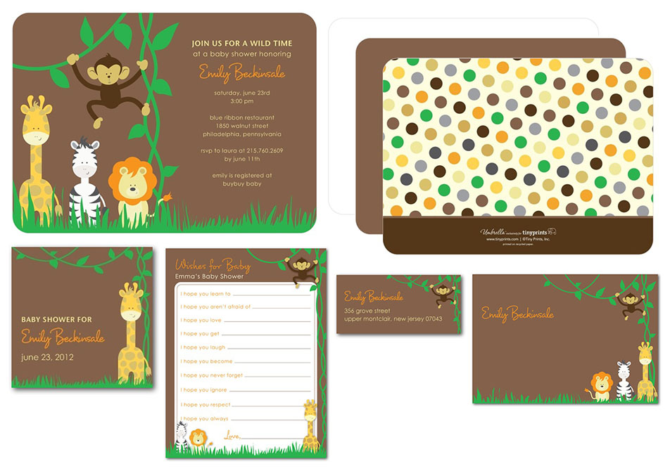 Safari Baby Shower Invite for Tinyprints