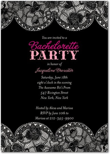 Bridal Lace Bachelorette Invite for Wedding Paper Divas