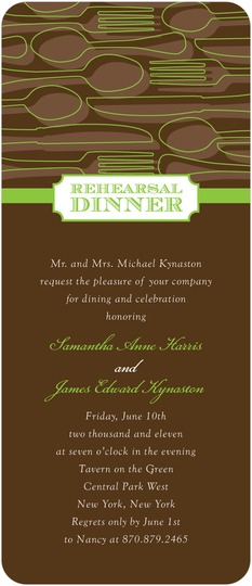 Rehearsal Dinner Invite for Wedding paper Divas