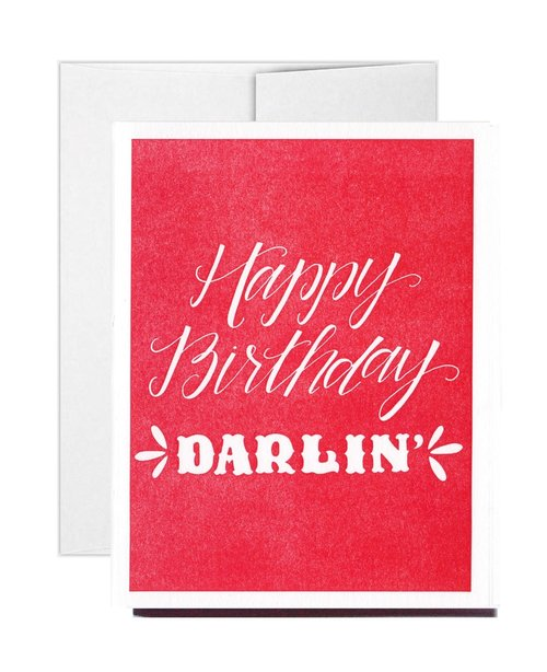 Letterpress happy birthday darlin greeting card stately made letterpress happy birthday darlin greeting card m4hsunfo Image collections