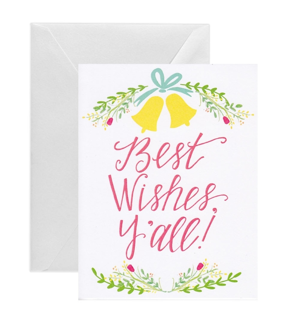 Best Wishes Yall Wedding Card Stately Made