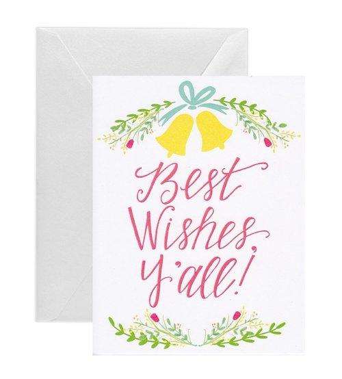 best wishes yall wedding card