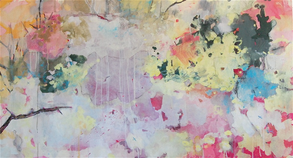 Spring Map , Oil and mixed media on canvas, 2011