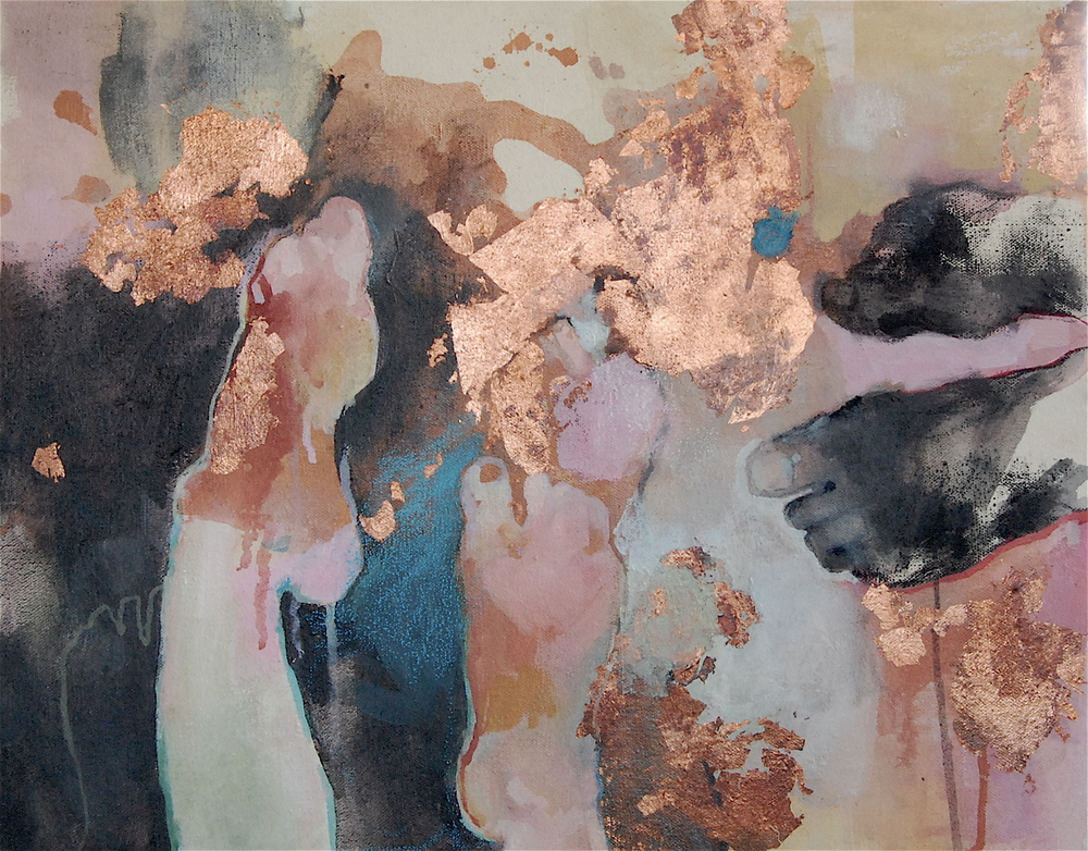 Nebecunezzar,  Oil, mixed media and copper leaf on canvas, 2011