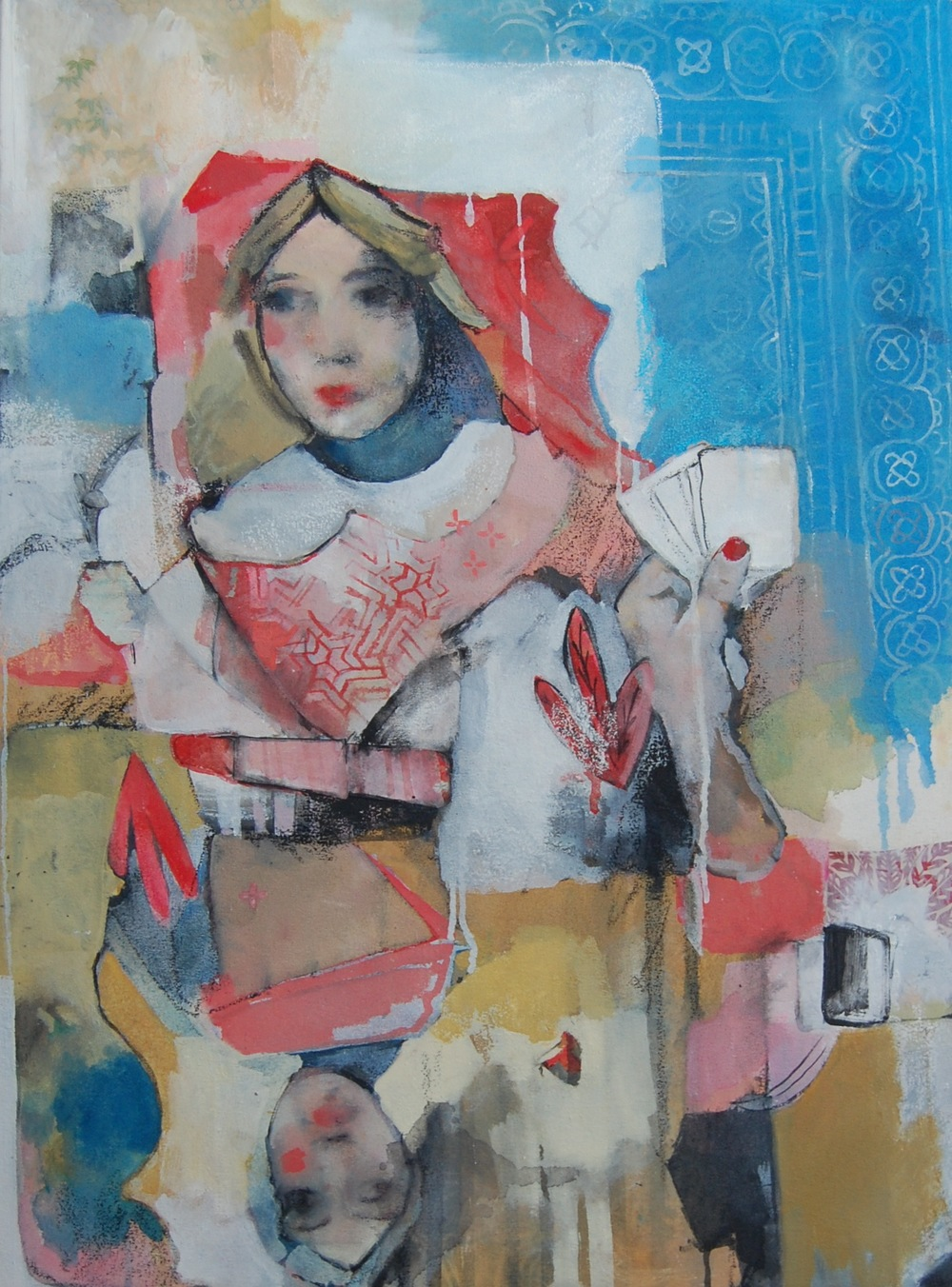 Portrait of a Queen,  Oil and mixed media on Canvas, 2014