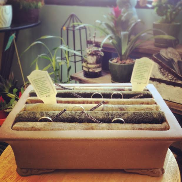 GREEN Thumb rings at  Your Enchanted Florist