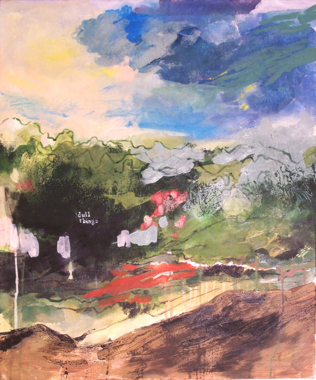 Dull Things,  Oil and mixed media on canvas, 2009
