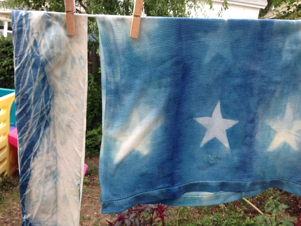 Indigo Dye with star resist