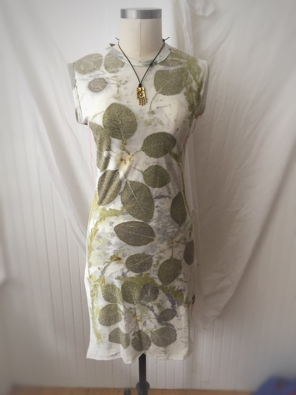 eco-printed tunic