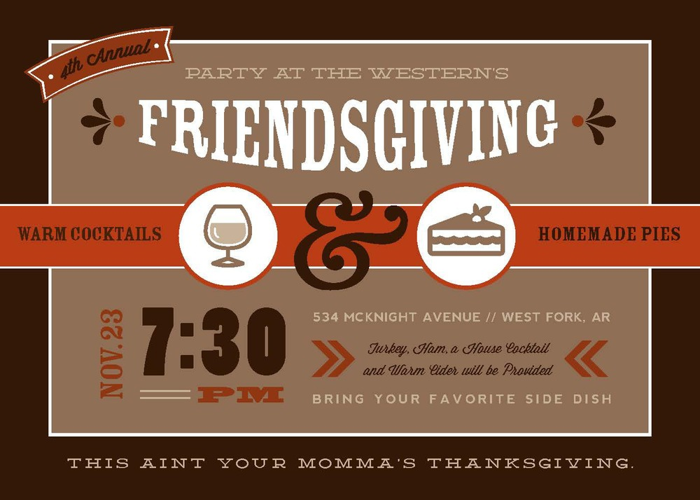 friendsgiving invitation  u2014 rook design co