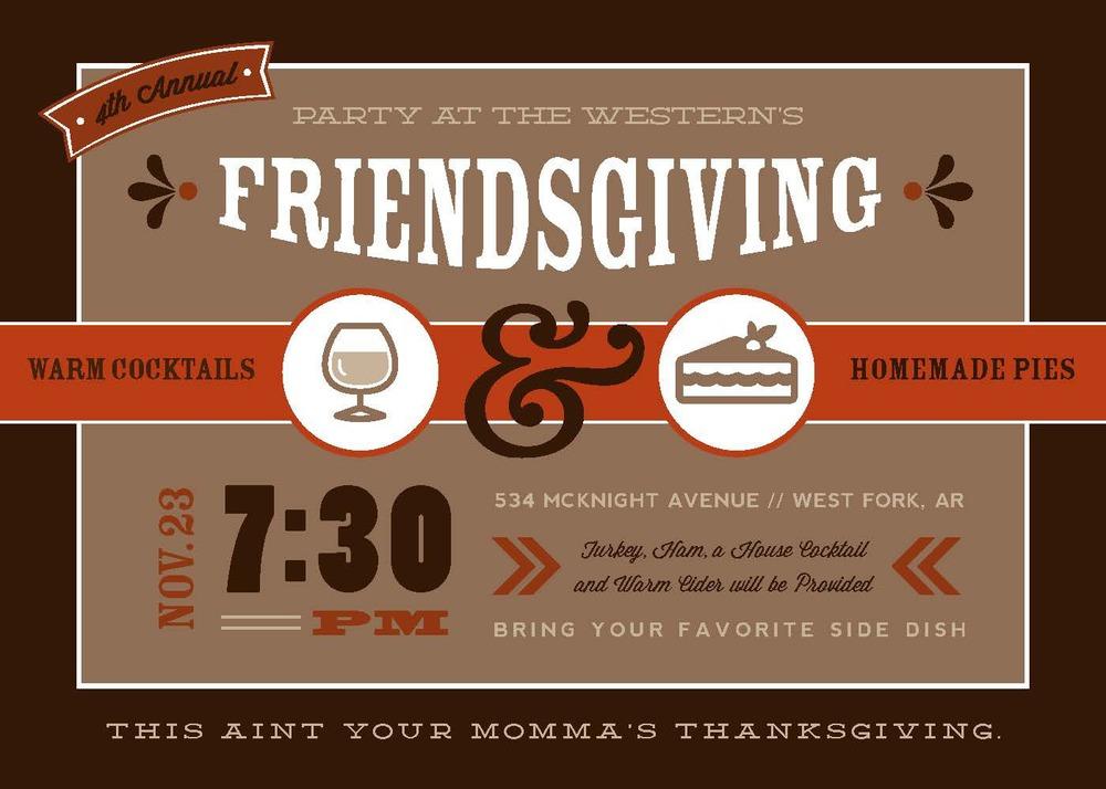 Friendsgiving Invitation Rook Design Co