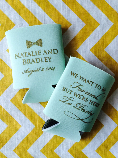 bowtie wedding favors we want to be formal but were just here to party can coolers