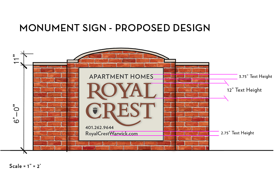 apartment monument sign revamp rook design co