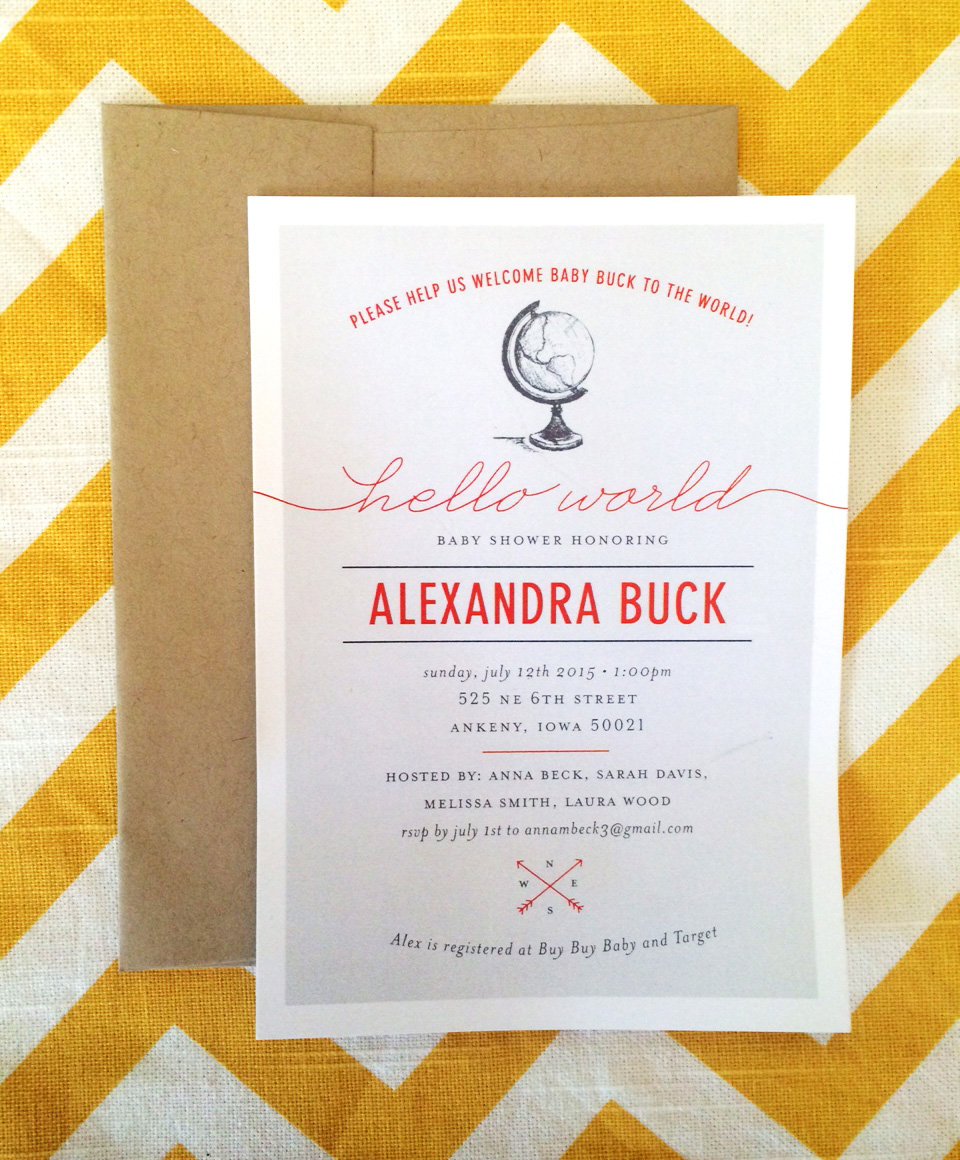 Spotlight on baby shower invitations rook design co alexandras thoughtful hosts wanted to give her coordinating thank you notes i used the same script font and details so guests would remember the shower filmwisefo