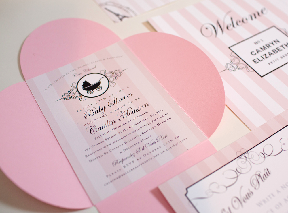 Chanel Baby Shower Invitations images