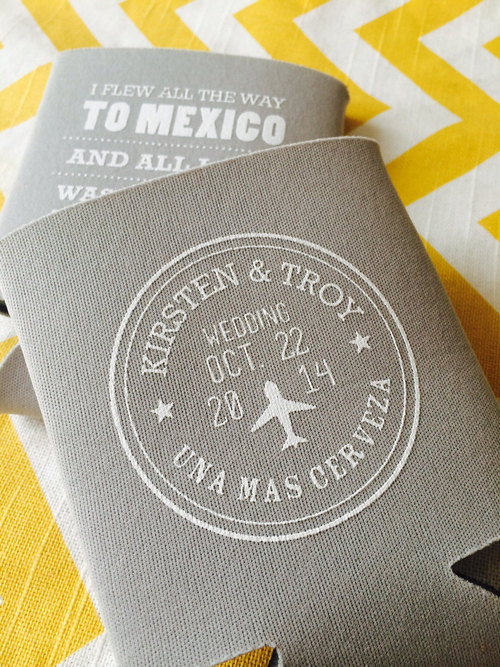mexico destination wedding with passport design koozie travel theme wedding koozie destination wedding koozie