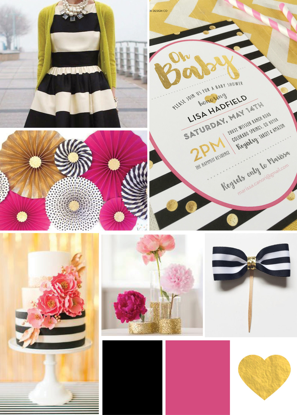 kate spade inspired baby shower invites rook design co