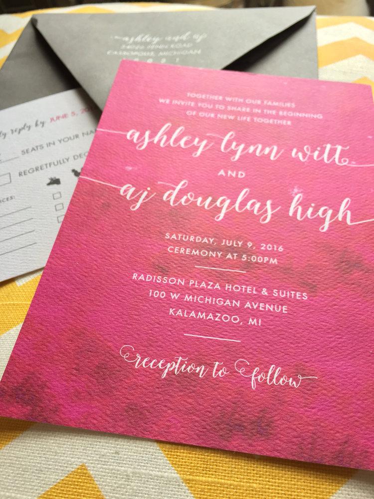 Ashley Aj Bold Watercolor Invites Rook Design Co