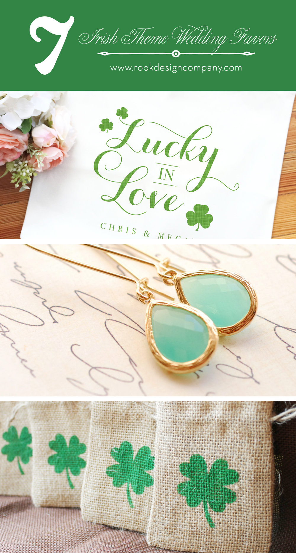 Lucky In Love - Irish inspired wedding favors — Rook Design Co.