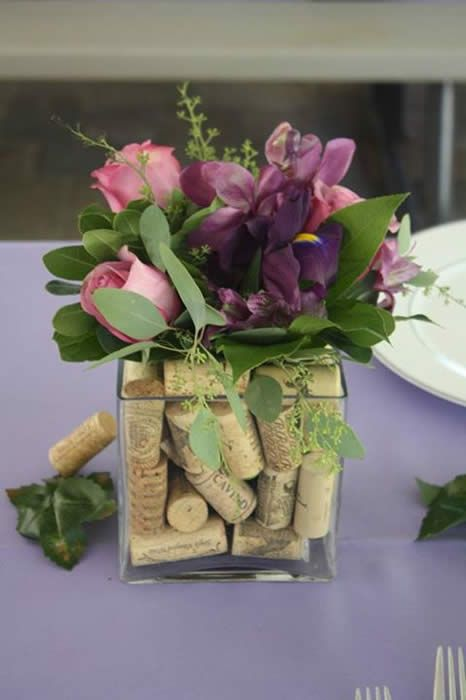 and use all those old corks in a vase for easy decor a great and inexpensive favor would be wine stoppers i love world market for unique wine accessories