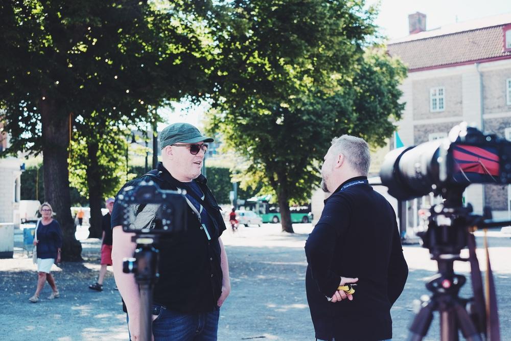 Fuji X fotografen Knut Kovistio stannade och sa hej.