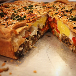Roasted Vegetable Pie with Egg                                                         $45